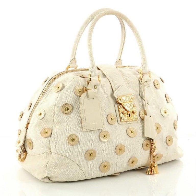 Louis Vuitton Polka Dot Panama Bowly Handbag Embellished