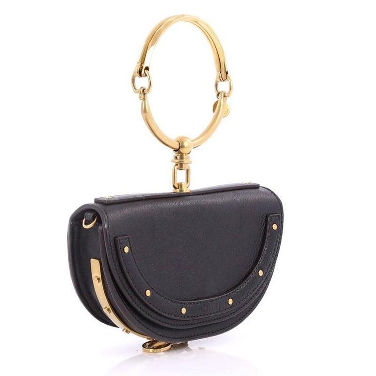 Black Chloe Nile Mini Leather Crossbody Bag  For Sale