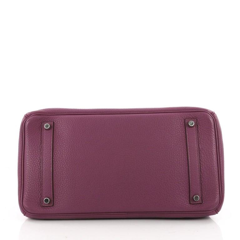 e40d45045f3a Women s Hermes Birkin Handbag Tosca Clemence with Palladium Hardware 35 For  Sale