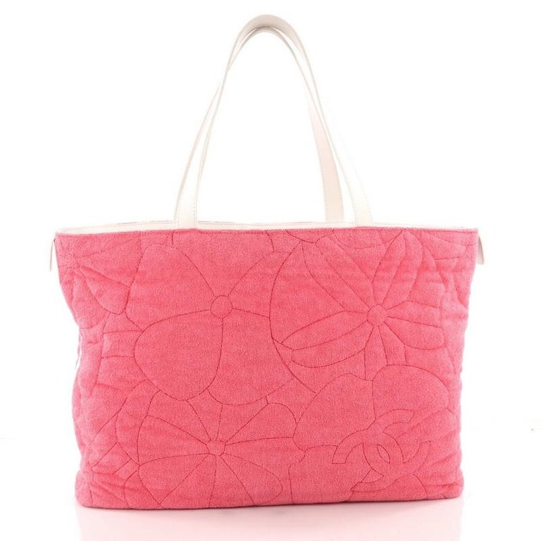 Women s or Men s Chanel Beach Tote Camellia Terry Cloth Large For Sale 797391d0dc