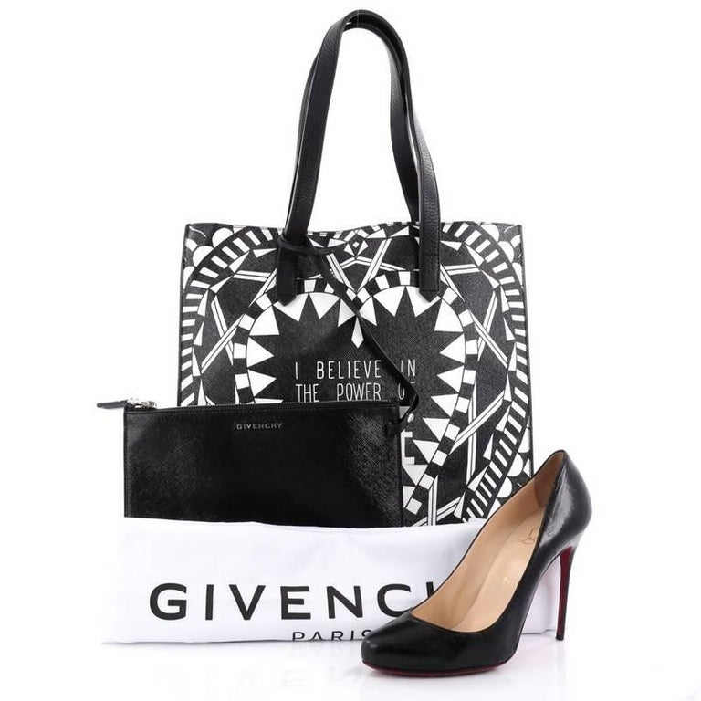 This authentic Givenchy Power of Love Tote Printed Leather Large is a  statement chic shopper tote eb29967e71c85