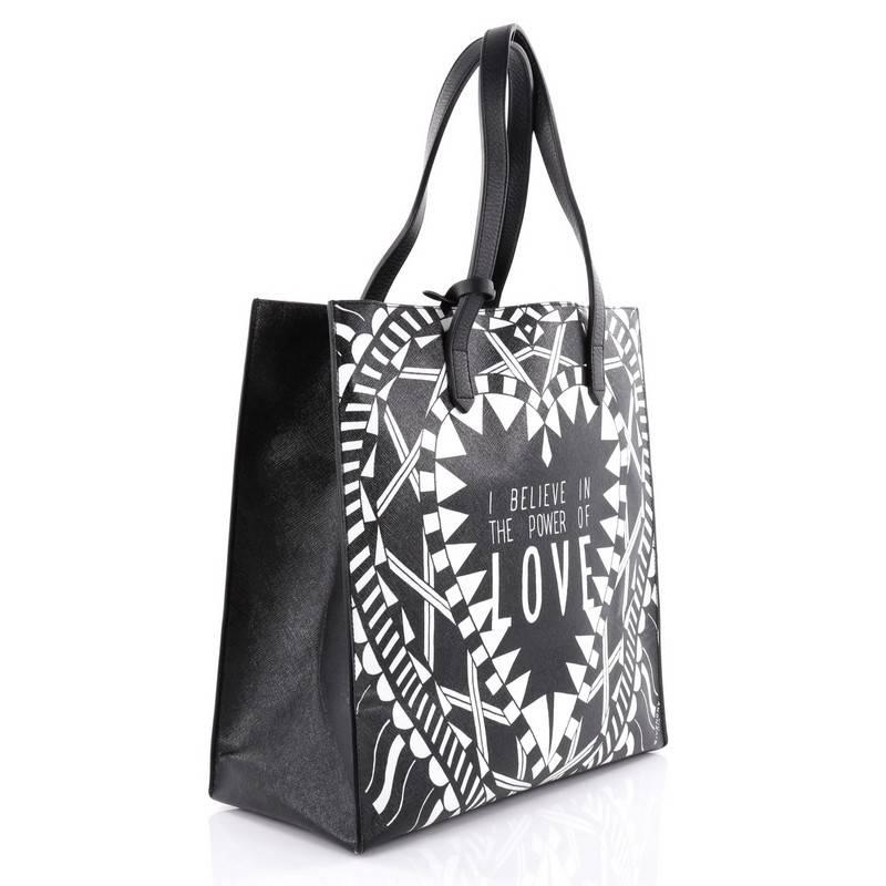 Givenchy Power of Love Tote Printed Leather Large at 1stdibs f60712757893f