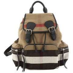 Burberry Rucksack Backpack House Check Canvas Medium