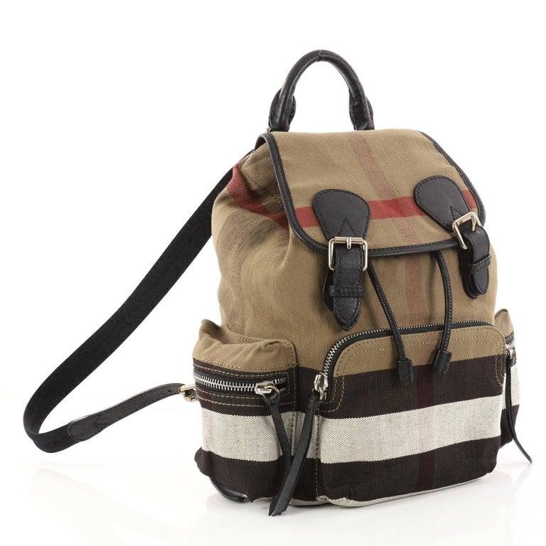 Burberry Rucksack Backpack House Check Canvas Medium at 1stdibs 9bf16fdbf251d