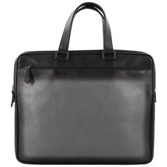 Fendi Front Zip Briefcase Leather