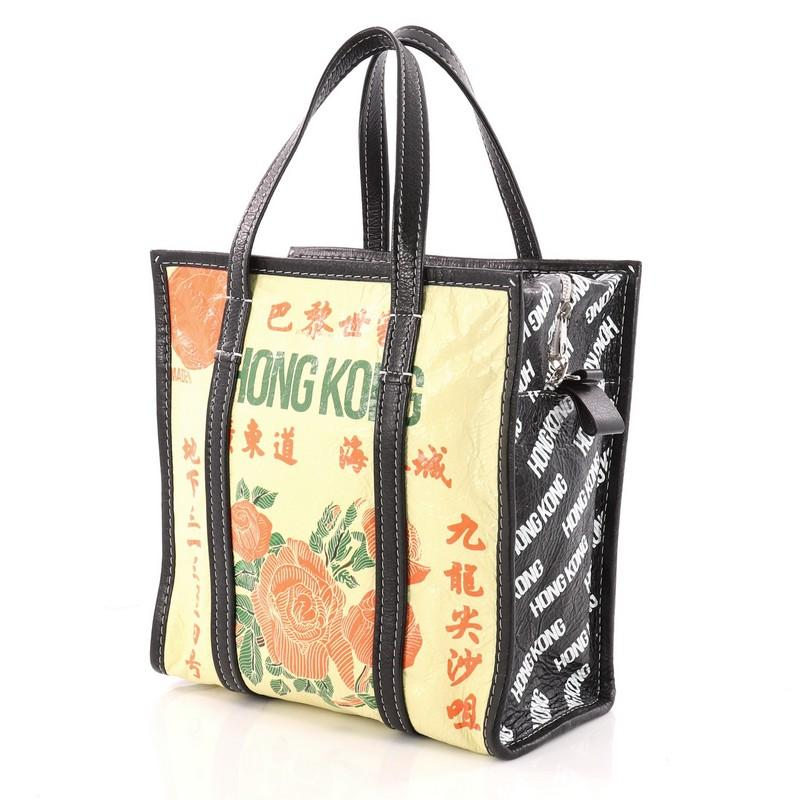 f0698283bd Balenciaga Bazar Convertible AJ Tote Printed Leather Small For Sale at  1stdibs