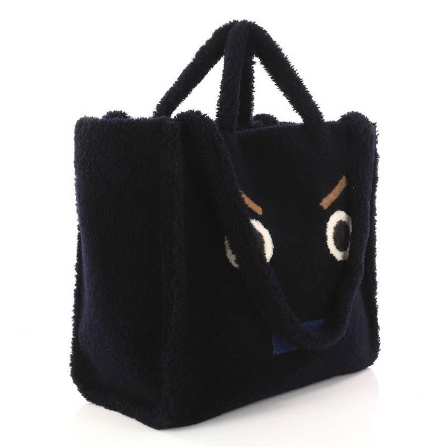 9df6d49199 Fendi Faces Tote Shearling Large For Sale at 1stdibs