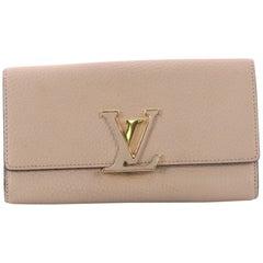 Louis Vuitton Capucines Wallet Leather
