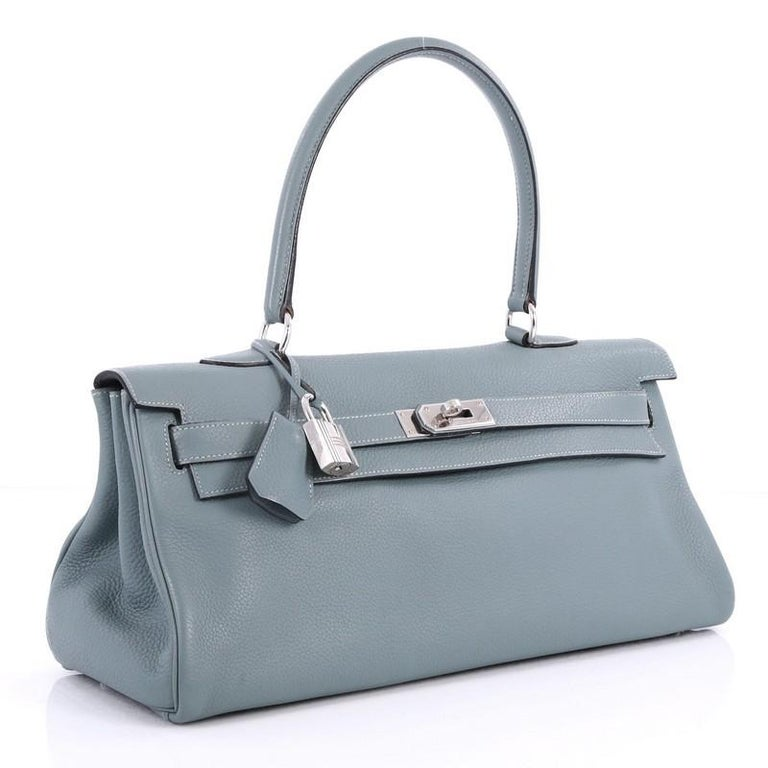 a0b5fdc1ef80 Hermes Shoulder Kelly Handbag Clemence 42 In Good Condition For Sale In New  York