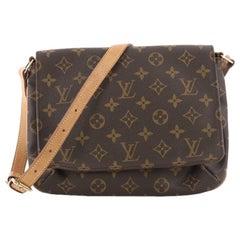 Louis Vuitton Musette Tango Monogram Canvas Handbag