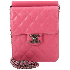 Chanel Crossing Times Flap Bag Quilted Lambskin Mini