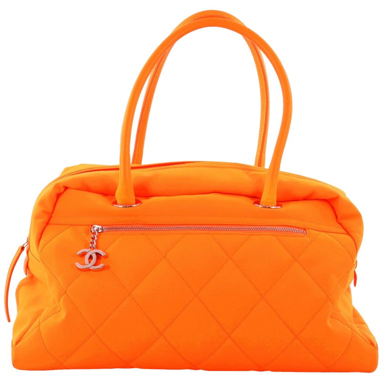 db04eff27e12 Chanel Large Quilted Canvas Biarritz Duffle Bag at 1stdibs