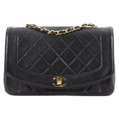 Chanel Quilted Lambskin Medium Vintage Diana Flap Bag