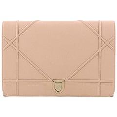 Christian Dior Diorama Flap Clutch Leather