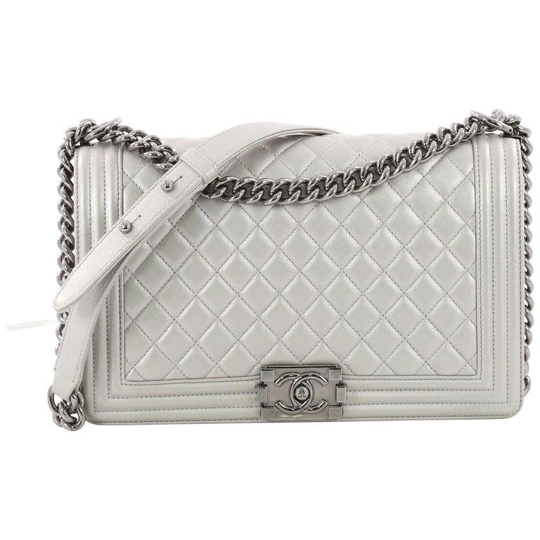 ce9740b45306 Chanel Boy Flap Bag Quilted Caviar New Medium at 1stdibs