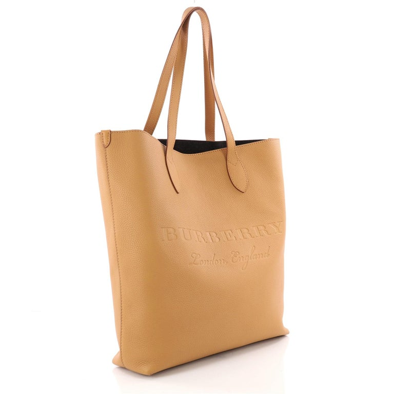 985da2453029 Orange Burberry Remington Tote Embossed Leather Tall For Sale