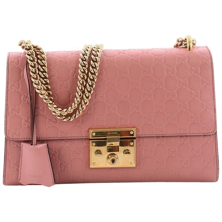 c18fc714fec22b Gucci Padlock Shoulder Bag Guccissima Leather Medium at 1stdibs