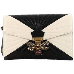 Gucci Queen Margaret Clutch Colorblock Leather