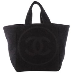 Chanel CC Beach Tote Terry Cloth Large
