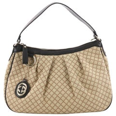 Gucci Sukey Hobo Diamante Canvas Medium