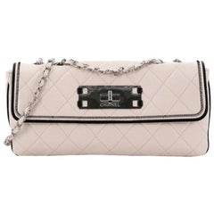 Chanel Mademoiselle Lock Flap Bag Quilted Lambskin East West