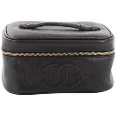 Chanel Vintage CC Cosmetic Case Caviar