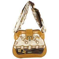 Louis Vuitton Linda Chain Shoulder Bag Monogram Silk with Alligator