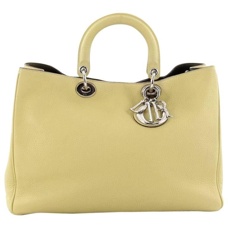 Christian Dior Diorissimo Tote Pebbled Leather Large For Sale at 1stdibs 93ec0abbe93de