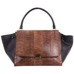 Celine Large Python Trapeze Handbag