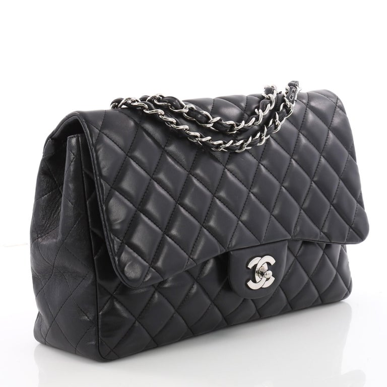 8c9f15ae50cf Chanel Clic Single Flap Bag Quilted Lambskin Jumbo At 1stdibs
