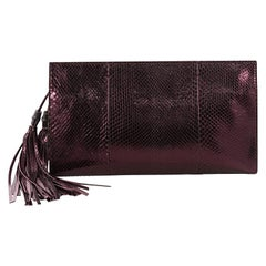 Gucci Nouveau Clutch with Tassels Python XL
