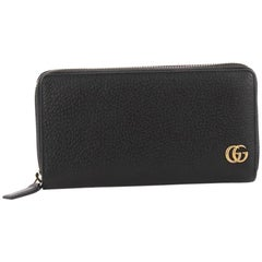 Gucci GG Marmont Zip Around Wallet Leather