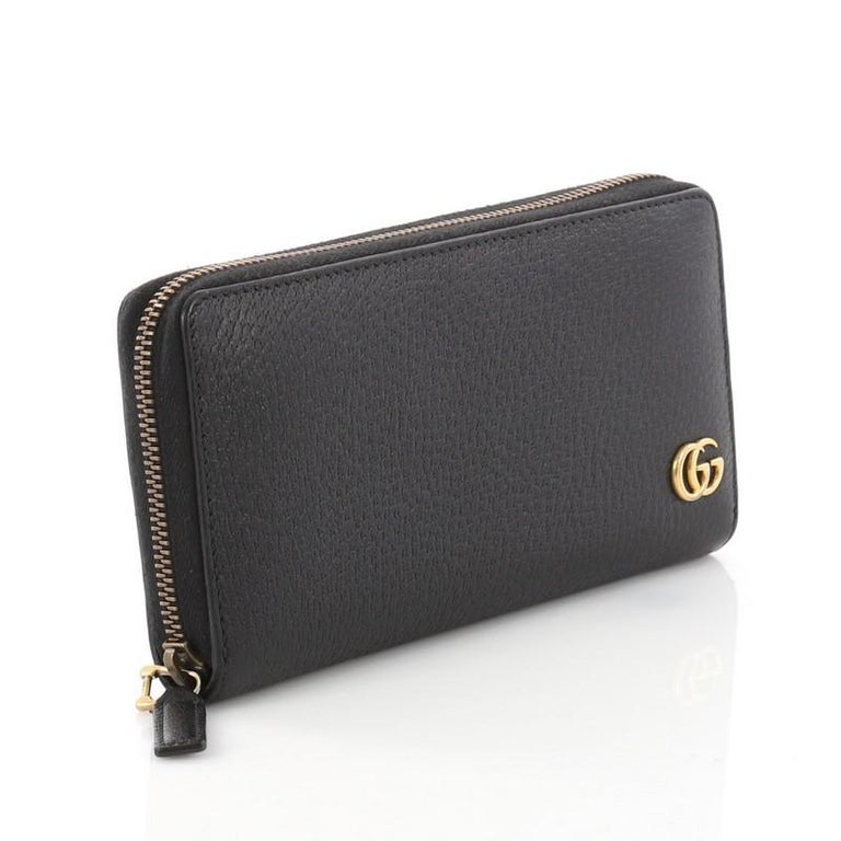 bdecb021a17 Gucci GG Marmont Zip Around Wallet Leather In Good Condition For Sale In  New York