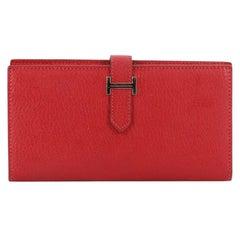 Hermes Bearn Wallet Chevre Mysore Long