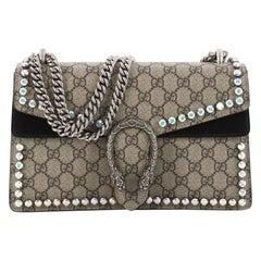 Gucci Dionysus Handbag Crystal Embellished GG Coated Canvas Small