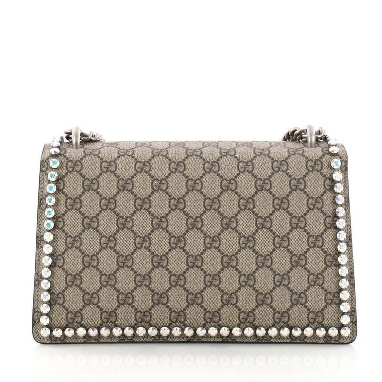 cdc103591c1 Women s or Men s Gucci Dionysus Handbag Crystal Embellished GG Coated  Canvas Small For Sale