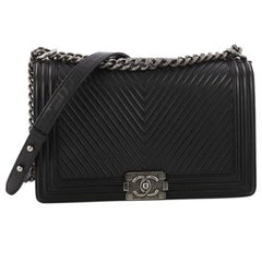Chanel Boy Flap Bag Chevron Calfskin New Medium