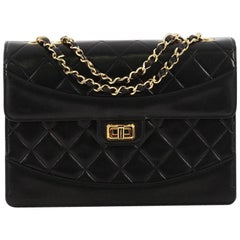 Chanel Vintage Mademoiselle Flap Bag Quilted Lambskin Medium 82827caa8bcd8
