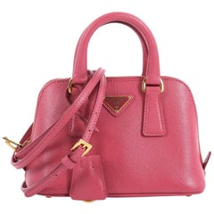 Prada Promenade Handbag Saffiano Leather Mini