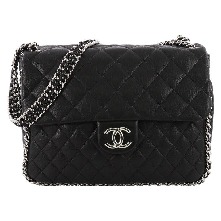 8289e4a11b23dc Chanel Chain Around Flap Bag Quilted Leather Maxi at 1stdibs