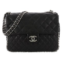 c92cf6808d9 Chanel Chain Around Flap Bag Quilted Leather Maxi