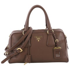 Prada Convertible Boston Bag Vitello Daino Small