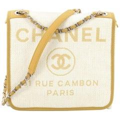 Chanel Deauville Messenger Bag Raffia Small