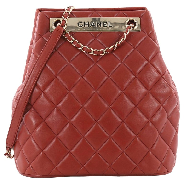 fd0f80575c19 Chanel Trendy CC Drawstring Bag Quilted Lambskin Medium at 1stdibs