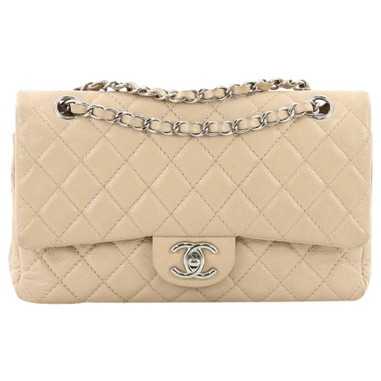 c9dd94cabc11 Chanel Classic Double Flap Bag Quilted Caviar Medium at 1stdibs
