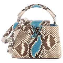 Louis Vuitton Capucines Handbag Python Mini