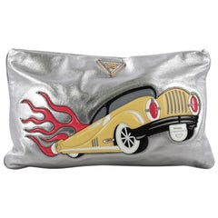 Prada Graphic Clutch Nappa Leather Large