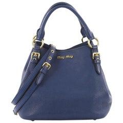 Miu Miu Madras Convertible Tote Leather Medium