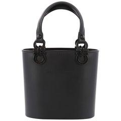 Salvatore Ferragamo Vintage Gancini Top Handle Bag Rubber Small