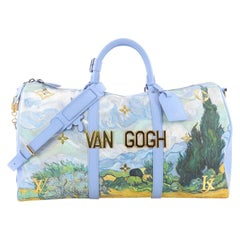 Louis Vuitton Keepall Bandouliere Bag Limited Edition Jeff Koons Van Gogh Print